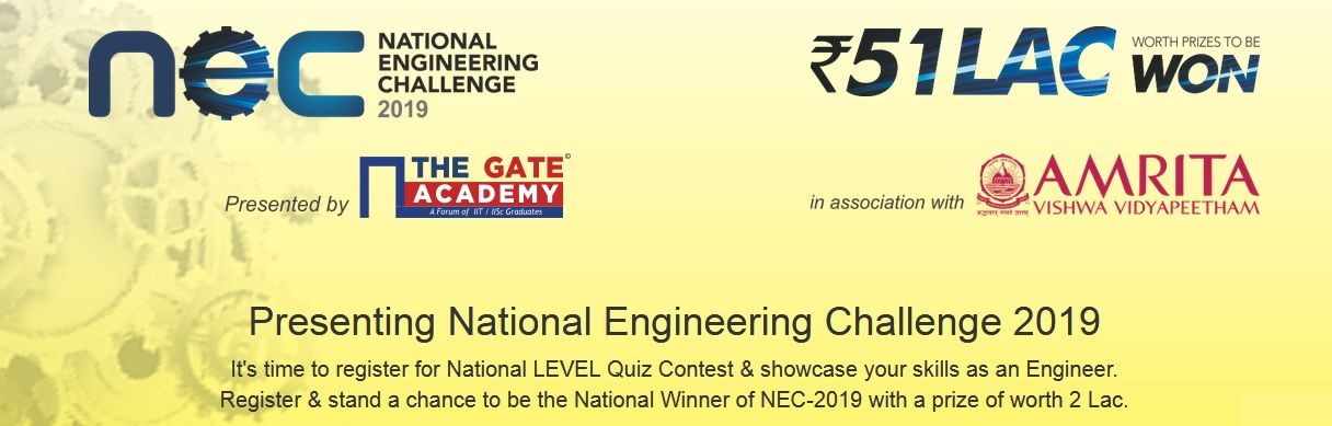The Gate Academy National Engineering Challenge 2019 : nec