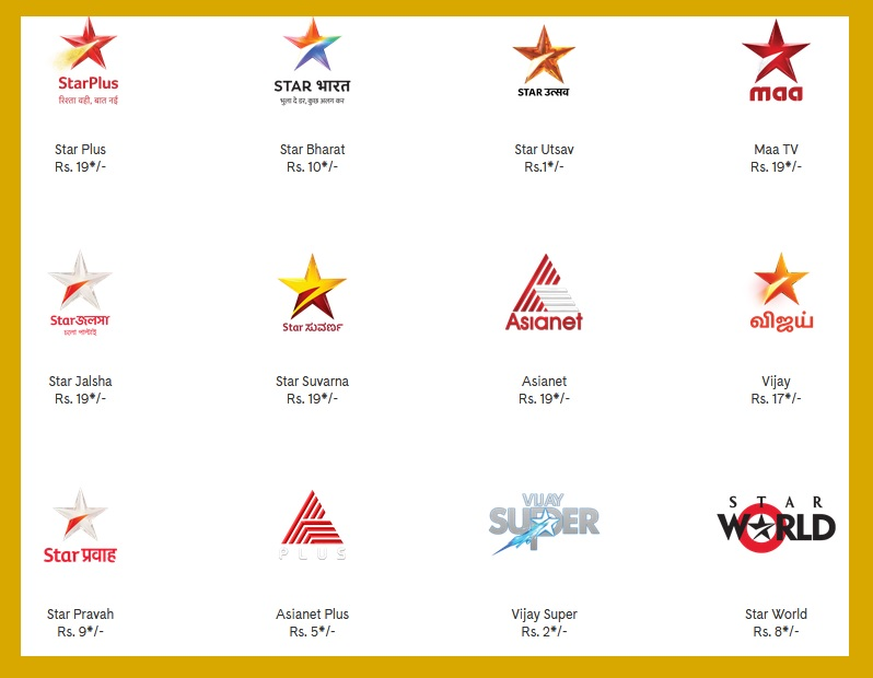Star India Value Channel Pack Offer Prices/ Subscription