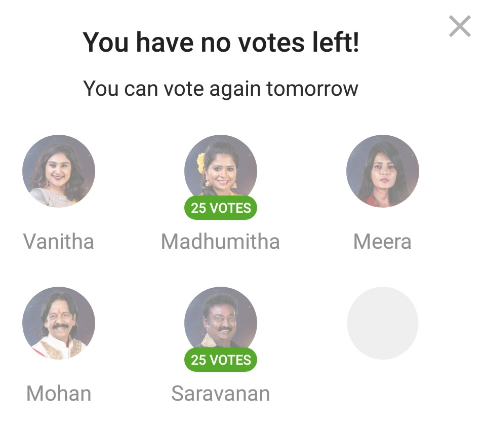 Bigg Boss 3 Tamil Vote Online Voting