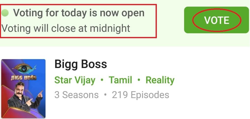 Star Vijay TV Bigg Boss Tamil Season 3 Voting 2019 : hotstar com