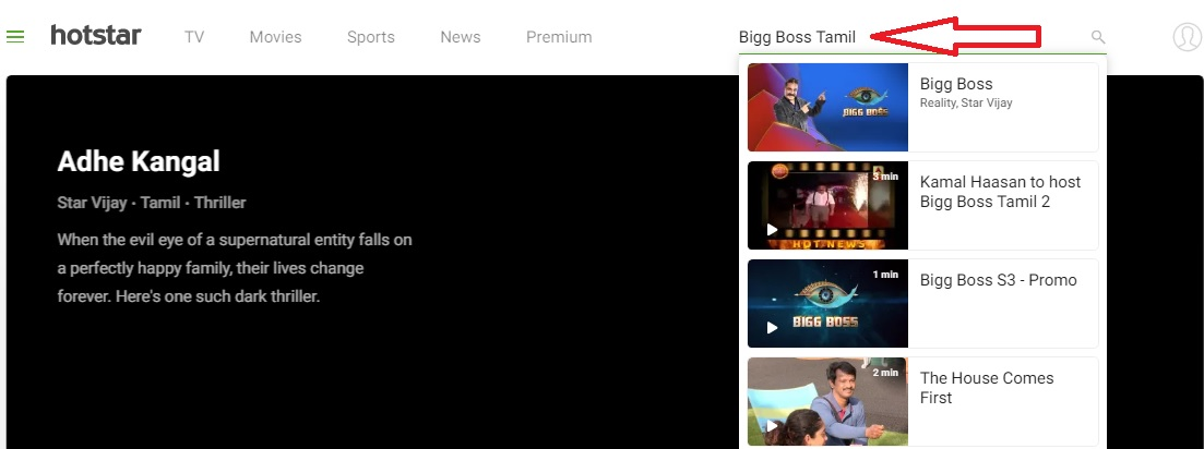 Hotstar Vijay Tv Bigg Boss